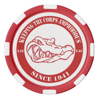 Card Gators Red Chips Poker Chips Set