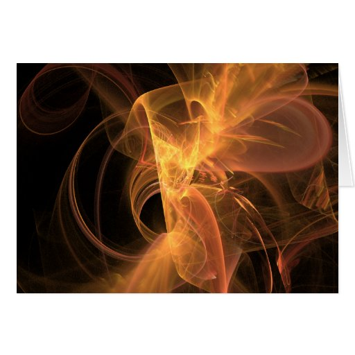 Card: Golden Swirl