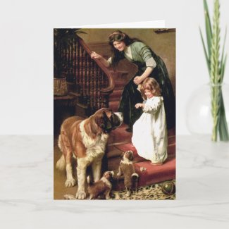 Card: Good Night - with St. Bernard card