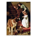 Card: Good Night - with St. Bernard Greeting Card
