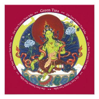 CARD Green Tara - with envelope Invites