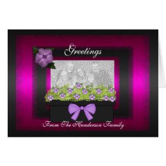 Card Greetings Black Planter box add Photo
