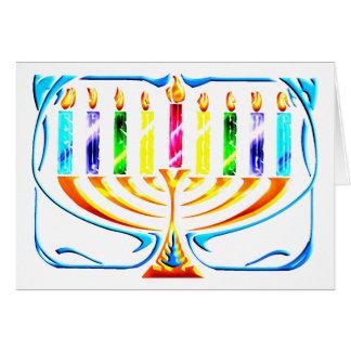 Card: Hanukkah Menorah - Chanukah Menorah Card