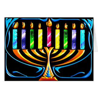 Card: Hanukkah Menorah - Chanukah Menorah Card