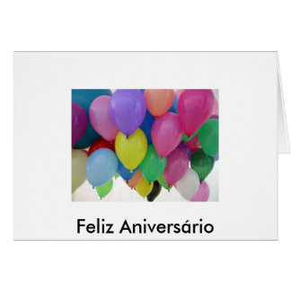 Card - Happy birthday to you - Balloon