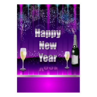 Card Happy New Year Large Business Cards (Pack Of 100)