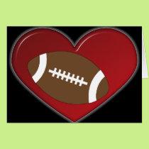 Card - Heart Football