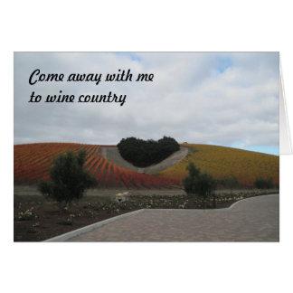 Card: Heart-Shaped Oak Grove in Vineyard Greeting Card