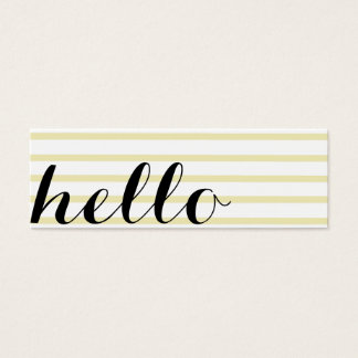 Card Hello interpreter translator professor