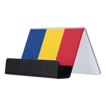 Professional Business Card Holder with flag of Romania