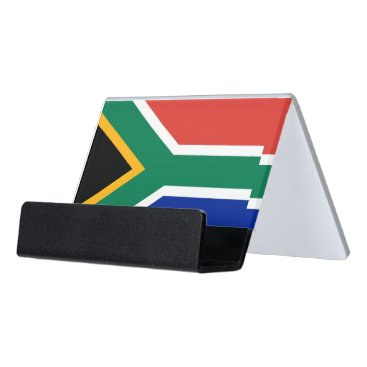 Professional Business Card Holder with flag of South Africa