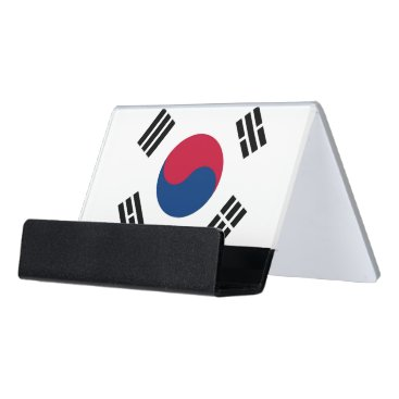 Professional Business Card Holder with flag of South Korea