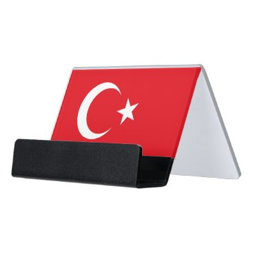 Professional Business Card Holder with flag of Turkey