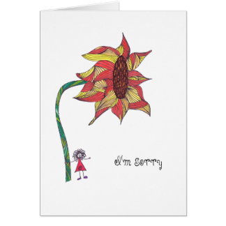Card - I'm sorry with sunflower