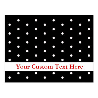 Card in Black and White Dots