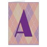Card- initial A