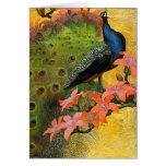 Card/ Invitation: Blue Peacock