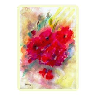 "Card (invitation) ""Red Giselle"" 5"" X 7"" Invitation Card"