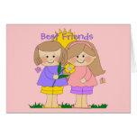 Card Kid's Two Best Friends Girls 2 Pink
