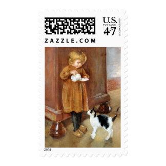 Card:  Kitty Cat - Vintage Art Postage