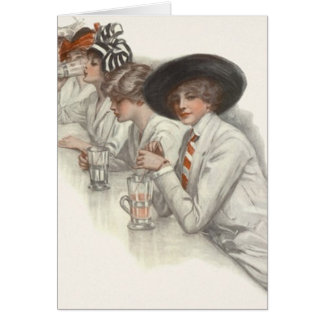 Card Ladies Night Out Girls Wkend Vintage Flappers