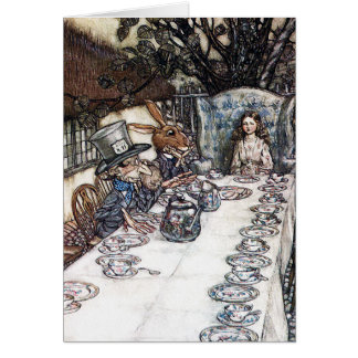 Card: Mad Hatter Tea Party - Alice in Wonderland Card