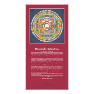 CARD Mandala of Chenrezig / Avalokiteshvara Photo Card