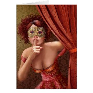 """Card """" Masquerade"""""""