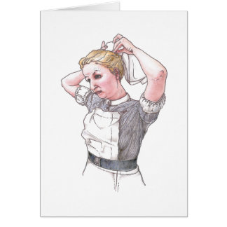 Card  - Middlesex Hospital Nurse Dressing For Duty