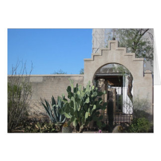 Card- Mission San Xavier del Bac Courtyard Stationery Note Card