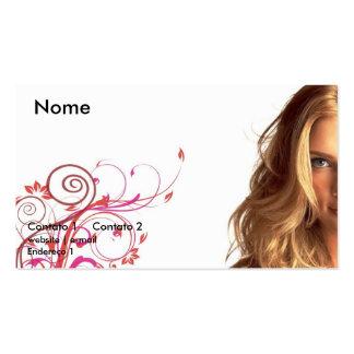 card model, Beauty on Flower Business Card