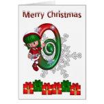 Card Monogram Christmas O