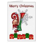 Card Monogram Christmas V