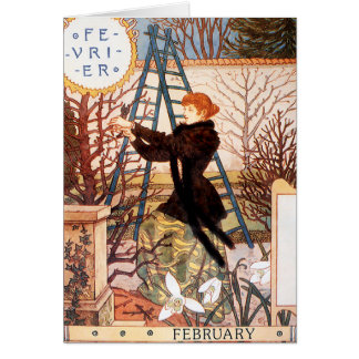 Card: Month of February - Février Card