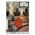 Card:  Month of March - Mars Greeting Card