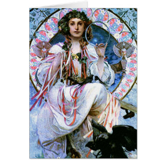Card: Mucha - Slavia - Art Nouveau - Secession Card