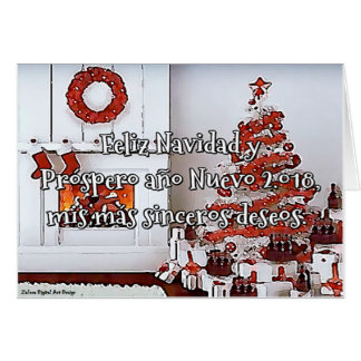 Card, My more sincere desires, Christmas tree Card
