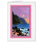 Card-NaPali Sunset, Kauai, Hawaii