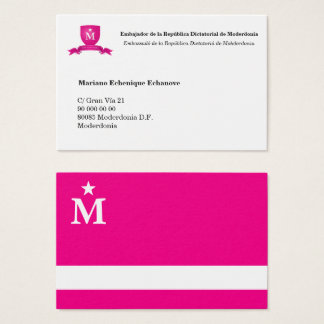Card of Ambassador of Moderdonia (editable)