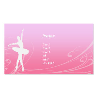 Card of ballet scroll business card template