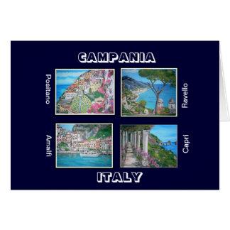 Card of Campania, Italy