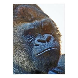 Card of gratefulness with Gorilla