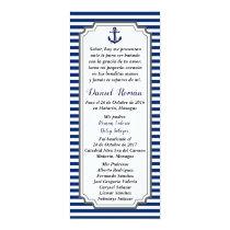 Card of Nautical Baptism gray blue Anchor
