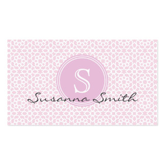 Card of pink elegant Moroccan roofing tile and mon Business Card Templates