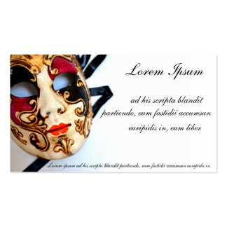 Card of store or celebration of disguises business card
