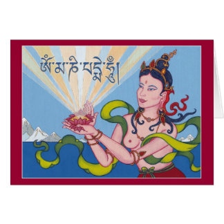 CARD Offering Goddess (Dakini) - with explanation