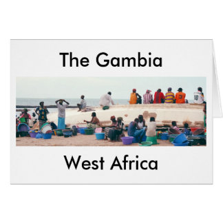 """Card, """"On the Beach, Gambia, West Africa"""" Stationery Note Card"""