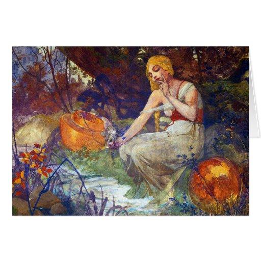 Card or Invitation: Mucha Painting - Prophetess