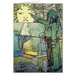 Card or invitation: Sun Goddess by Alphonse Mucha
