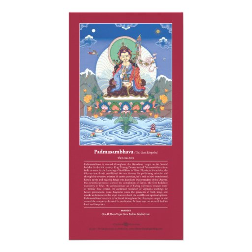 CARD Padmasambhava / Guru Rinpoche + explanation Photo Card